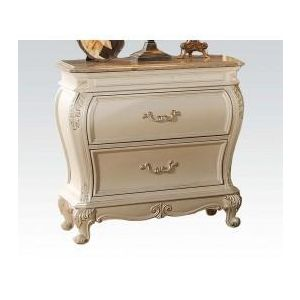 Chantelle Pearl White/Rose Gold Nightstand