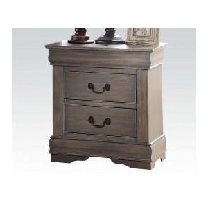 Louis Philippe Antique Gray Nightstand