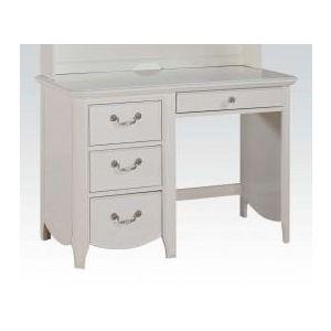 Cecilie White/ Light Pink PU Desk