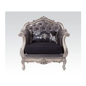 CHANTELLE ANT. PLATINUM CHAIR  PILLOW