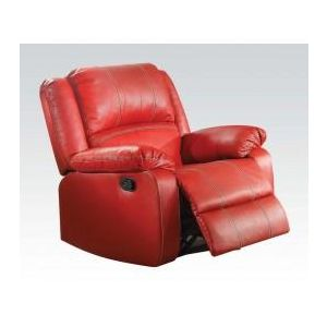 ZURIEL RED PU RECLINER