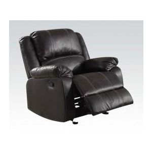 ZURIEL BLACK PU RECLINER