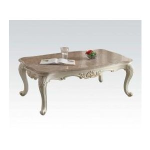 MARBL CHANTELLE PEARL WHITE COFFEE TABLE