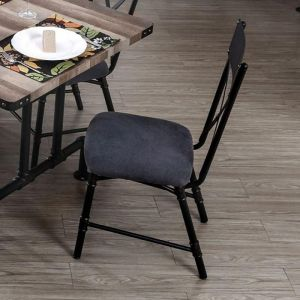 Brixton I Antique Black Table Chair(2PK)