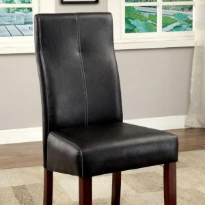 Bonneville I Brown Cherry Black Table Chair(2PK)