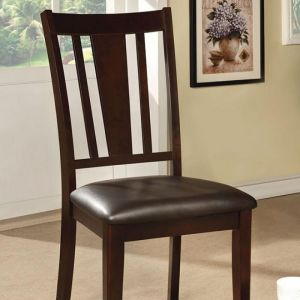 Bridgette I Espresso Table Chair(2PK)