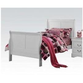 Louis Philippe III White Twin Bed