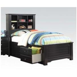 Mallowsea Black w/ Storage Full Bed