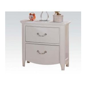 Cecilie White/ Light Pink PU Nightstand