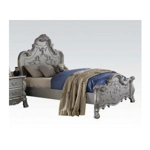 Dresden Silver Finish Queen Bed