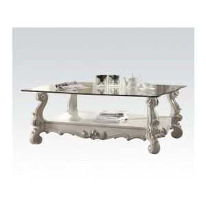 VERSAILLES IVORY VELVET HIGH BACK COFFEE TABLE