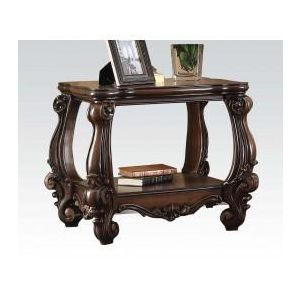 VERSAILLES DARK BROWN PU END TABLE