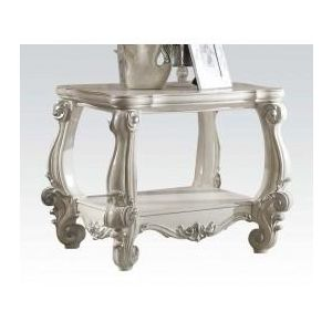 VERSAILLES VINTAGE GRAY PU END TABLE