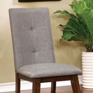 Abelone Walnut Gray Table Chair(2PK)
