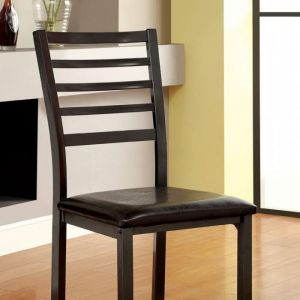 Colman Black Table Chair(2PK)