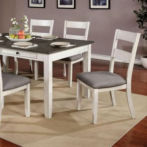 Anadia Antique White Gray Table
