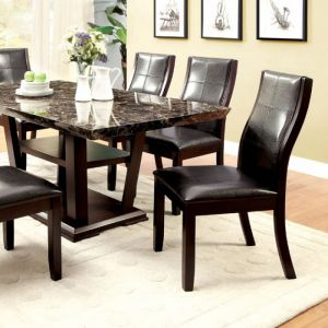 Clayton I Dark Cherry Black Table