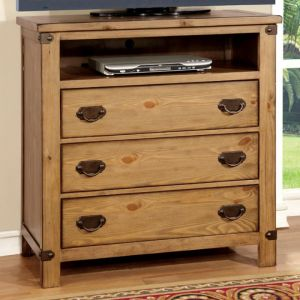 Pioneer Weathered Elm Media Chest