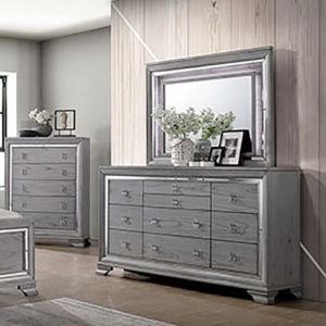 Alanis Light Gray Dresser