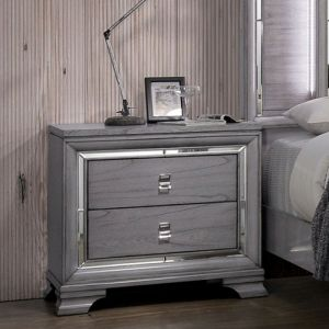 Alanis Light Gray Nighstand