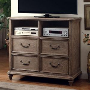 Belgrade I Rustic Natural Tone Media Chest