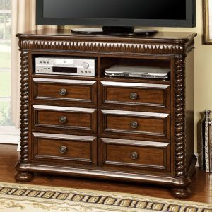 Mandeville Brown Cherry Media Chest