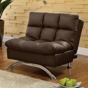 Aristo Dark Brown Chrome Chair