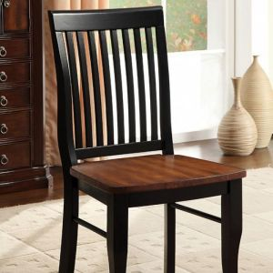 Earlham Antique Oak Black Table Chair(2PK)