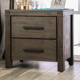 Rexburg Wire Brushed Rustic Brown Nighstand